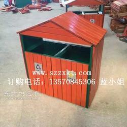 园林小房屋型垃圾桶制作厂家图片