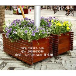 柚木花箱/木板花箱/木质栅栏花箱生产厂振兴景观图片