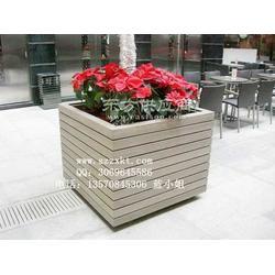 别墅塑木花箱-木质花箱花盆质量100保证厂家振兴景观图片