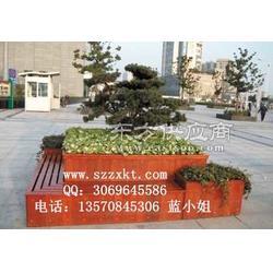 景观木质花盆花盆订购/花盆座椅制作厂家图片