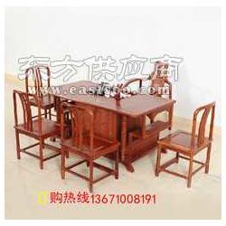 红木中式茶桌实木古典茶桌椅图片