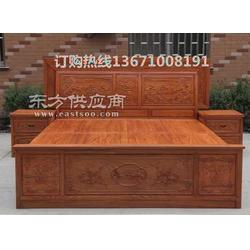 红木床套装丨红木床带床头柜图片