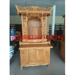 红木古典佛龛实木立式神柜图片