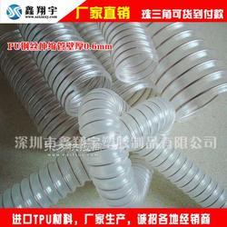 PU镀铜钢丝软管耐磨吸尘管透明塑料波纹管图片