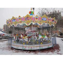 游乐场旋转木马设备奇乐迪豪华转马C款彰显贵者气质图片