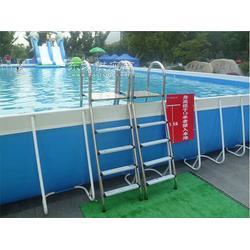夏季休闲广场娱乐大型支架游泳池图片