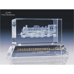 铁路大学同学聚会礼品摆饰 水晶内雕机械模型纪念品图片
