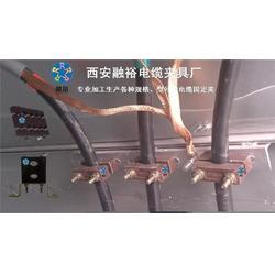 天津电缆固定夹_融裕防涡流电缆夹厂_单孔电缆固定夹品牌图片