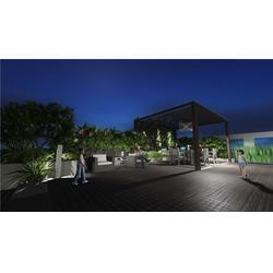 安康屋顶花园日照分析_凤翔安康屋顶花园_陕西观源景观设计图片