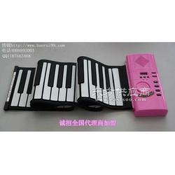 博锐61键环保便携式手卷电子琴厂家手卷钢琴总图片