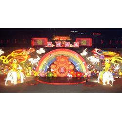 红灯笼花灯厂 电动机械花灯设计-运城电动机械花灯图片