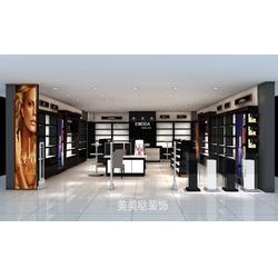安阳化妆品展柜-河南美美哒装饰设计-铁木组合化妆品展柜图片