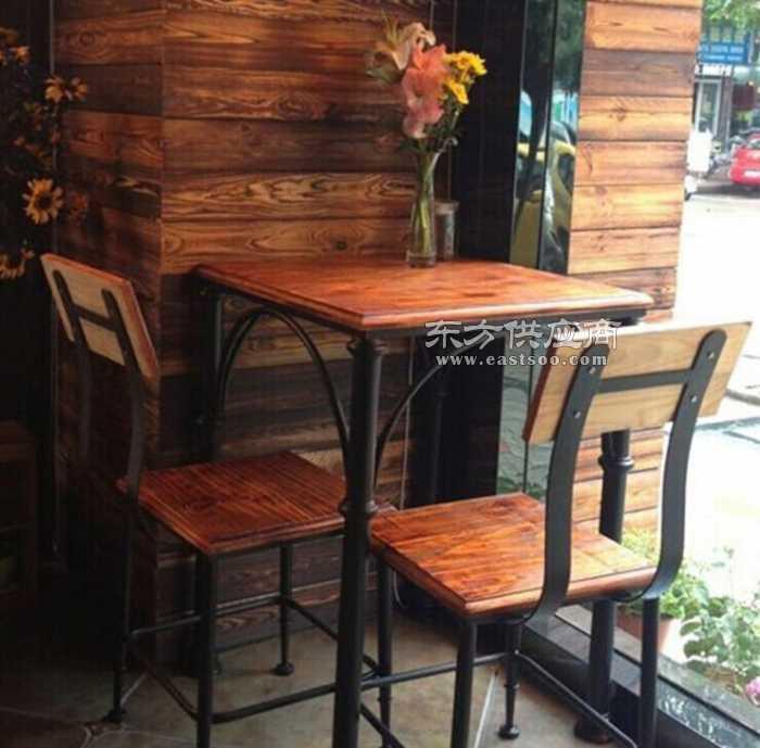 方形实木餐桌椅休闲酒吧餐厅咖啡厅餐桌椅图片