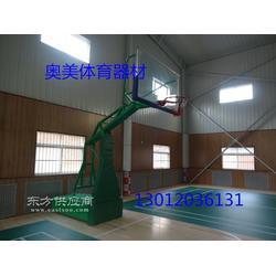 地埋圆管篮球架,中小学移动篮球架图片