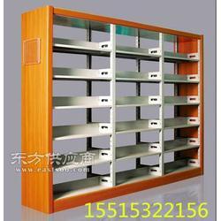 双面书架,木侧双面书架定做,钢制双面书架厂家图片