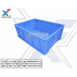 厂家供应洗碗人餐具可配盖蓝色胶箱阳光餐具专用箱图片