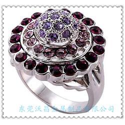 精品外貿鋅合金戒指時尚鑲鉆戒指鋅合金甩模飾品圖片