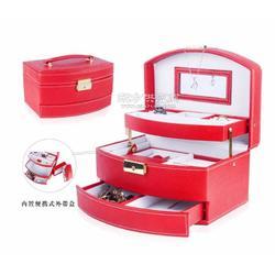 便携式珠宝箱,三层抽屉,多存放空间,首饰盒生产厂家图片
