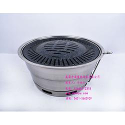 自助烤肉锅/威海合浦餐饮设备有限公司/韩式不锈钢烤肉炉图片