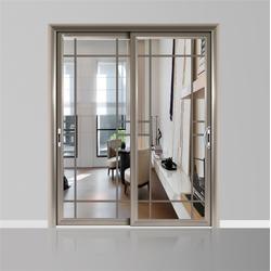 中空静音玻璃铝合金吊趟门-单轨中空玻璃吊趟门-吊趟门图片