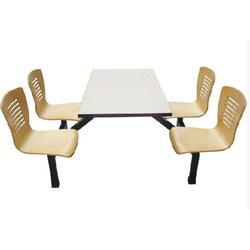 艺东塑料(图)_食堂餐桌椅圆形_珠海食堂餐桌图片