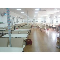 艺东塑料(图),食堂餐桌椅连体,长安食堂餐桌图片