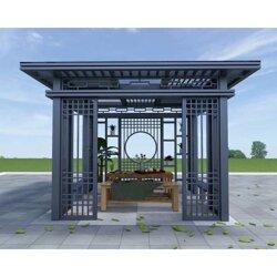 新中式凉亭 新中式阳光房 新中式铝合金亭子图片