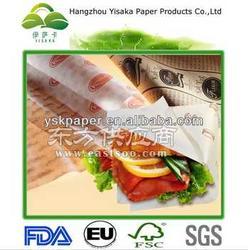 食品包装厂家供应防油防水汉堡纸图片