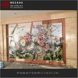 春節禮品 名家四幅粉彩瓷板畫春夏秋冬圖片