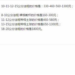 10-15公分法桐-好苗会-法桐图片