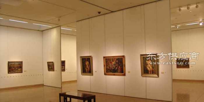 博物馆移动隔断展厅活动展板画廊移动屏风图片