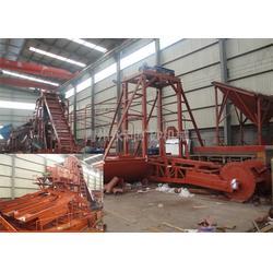 永利矿沙机械,链斗式淘金船,山东淘金船图片