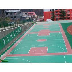 未央区硅PU篮球场铺设|篮球场|秦氏体育(查看)图片