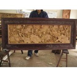 木雕壁画销售-【翔云木雕屏风】-开封木雕壁画图片