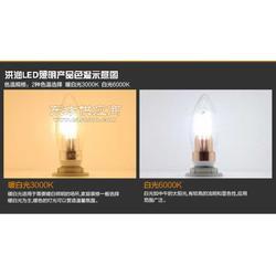 3Wled蜡烛灯 高亮led灯泡 车铝型材图片