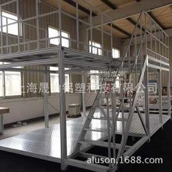 铝合金防滑踏台 大型机器扶手楼梯 机械设备走台厂家定做图片