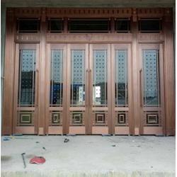 新余铜门-福乐全铜门口碑好-别墅铜门安装图片