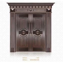 鹰潭仿铜门、钢质仿铜门、福乐全仿铜门厂家图片