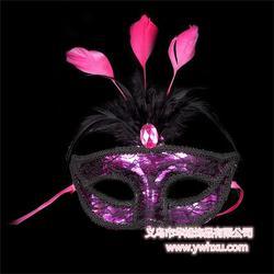 金华羽毛面具、羽毛面具哪家好、华旭饰品专业服务(优质商家)图片
