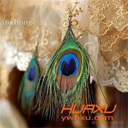 华旭饰品款式丰富,羽毛饰品制作,铜鸡侧尾羽毛饰品图片