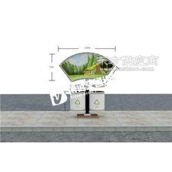 定做不锈钢材质垃圾箱/经典彩色垃圾箱/精美广告垃圾箱厂家图片
