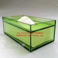 亚克力酒店纸巾盒加工定制图片