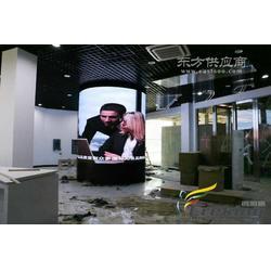 室内P6圆柱形led显示屏亮相TCL体验店图片
