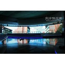 P6弧形全彩LED显示屏展现于丰台规划展览馆图片