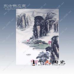 瓷板画生产厂家青花瓷瓷板画现代艺术瓷板画图片