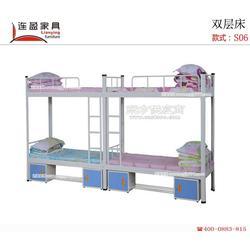 上下铺铁床 连盈家具 安静无噪音的上下床图片