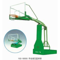 合泰体育器材/铺设地面 英德室内篮球架款式 篮球架图片
