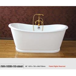 铜套子铸铁浴缸、南海卫浴(在线咨询)、浴缸图片