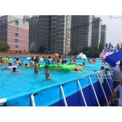 移动游泳池专为夏季游泳嬉水而生图片