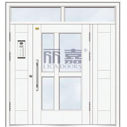 氟碳漆楼宇门供应-氟碳漆楼宇门-丽嘉门业荣誉之选图片